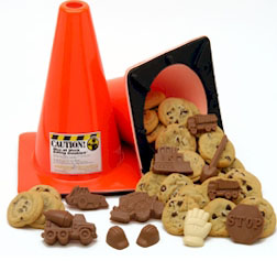 Traffic Cone Chocolate Treat Kit