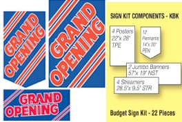 Grand Opening Stripes Event Kit