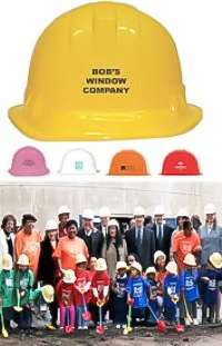 Plastic Construction Hard Hats - Economy Style