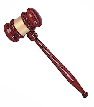 Rosewood Gavel and Sounding Block