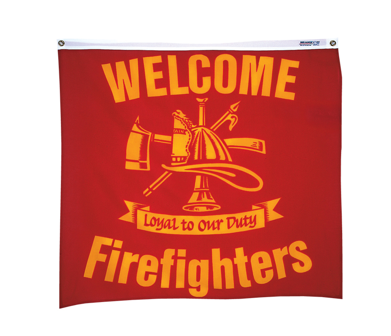 Welcome Firefighters Bunting Banner