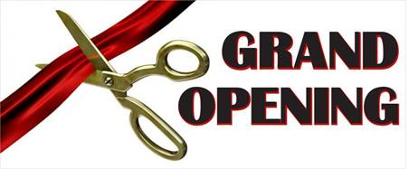 Grand Opening Ribbon Banner