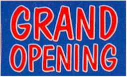 Blue Grand Opening Banner 3ft x 5ft