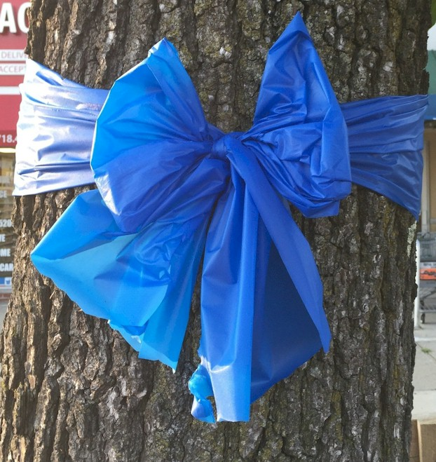 4 Quot Wide Plastic Weatherproof Police Awareness Ribbon Bows