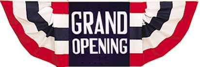 Grand Opening Bunting Banner