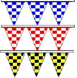 Checkered Color Jumbo Pennant - 30 ft Section