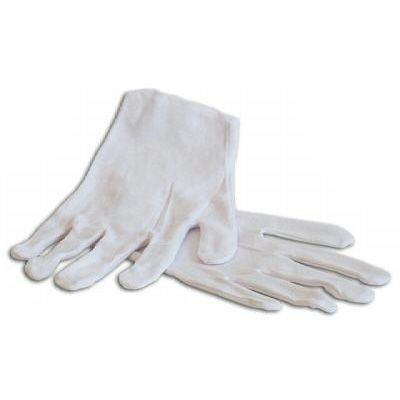 Ceremonial White Cotton Gloves - Economy