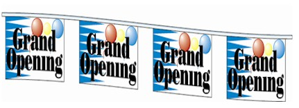 Grand Opening Balloons Pennant