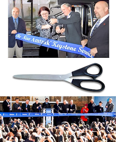 Rental - Giant 25 inch Premium Ceremonial Scissors - Many color choices