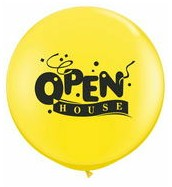 Open House 3 foot (36 inch) Latex Balloon