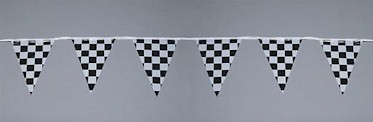 Checkered Jumbo Pennant - 30ft section