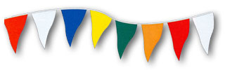 Multi-Color Jumbo Pennant - 30ft section