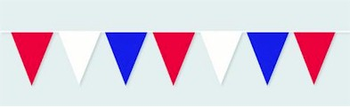 Red, White, and Blue Jumbo Pennant - 120ft section