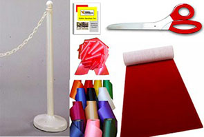Red Carpet Ribbon Cutting Kit