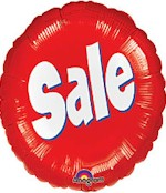Sale Mylar Balloon - Red and White