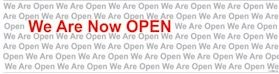 Grand Opening We Are Now Open Banner 2 by 8 ft.