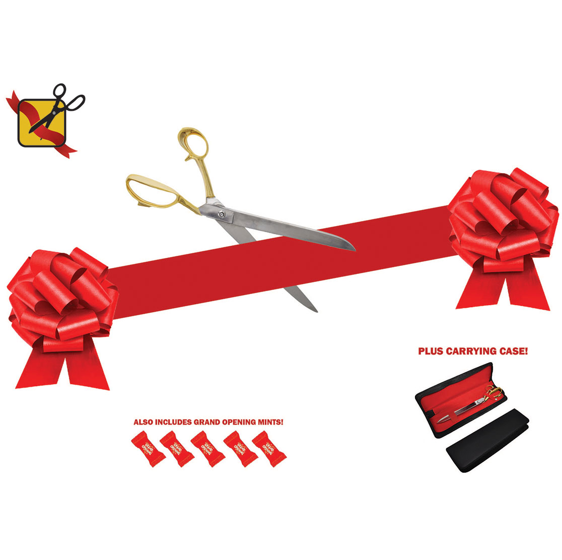 Gold and Chrome Ribbon Cutting Kit