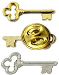 Skeleton Key Lapel Pin