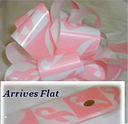 5 1/2 Inch Breast Cancer Pull Bows