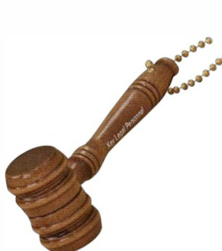 Gavel Barrel Keychain