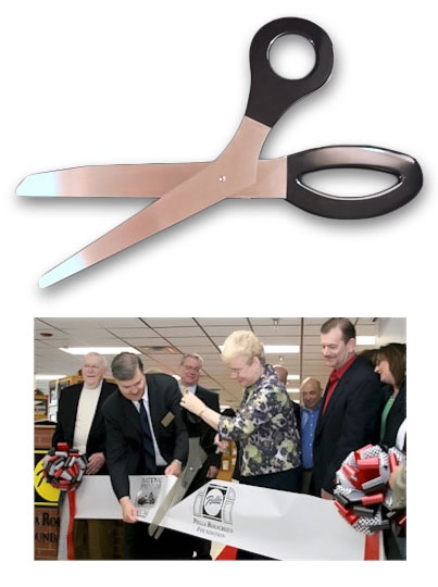 3 Foot Ceremonial Scissors - Black Handles