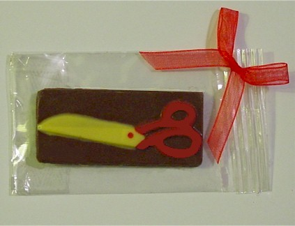 Scissors Chocolate Bar