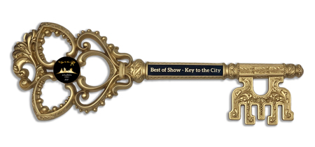Custom Antique Ornate Resin Gold Key