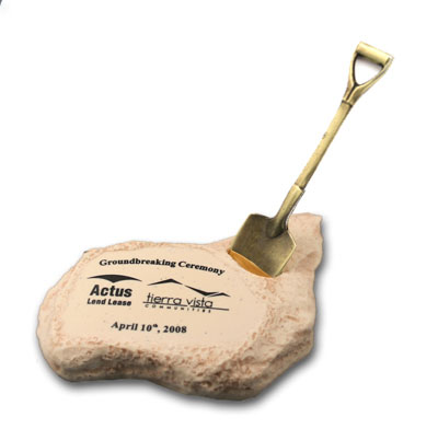 Shovel In Stone Base