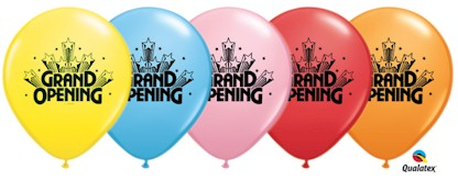 Grand Opening Latex Balloons - Std 11in