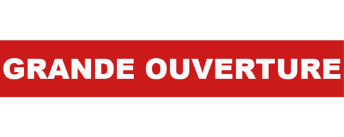 Grande ouverture ribbon french for Ouverture pvc