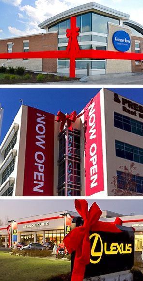 3-D Giant RED Velvet Building Bow