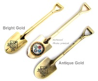 5 1/2 Inch Gold Plated Shovel