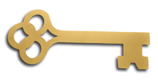 Bargain Gold Olympian Key
