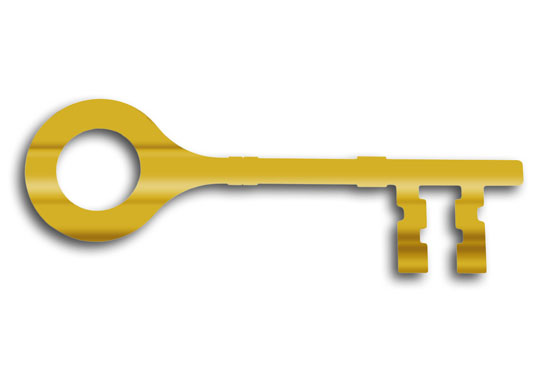 Gold Plated Key