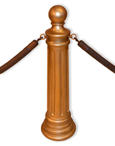 Antique Gold Hotel, Museum, Courtroom Signature Stanchion
