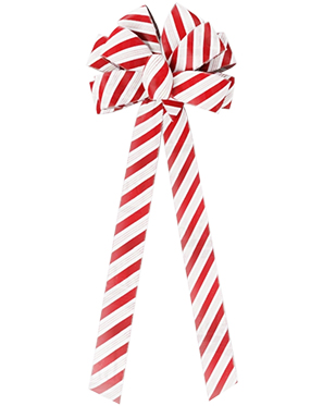 10 Loop Holiday Candy Cane Bow