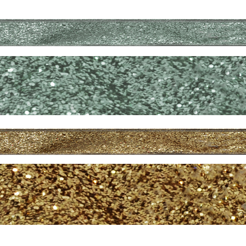 2.5 Inch Wired Edge Glitter Gold/Silver Ribbon
