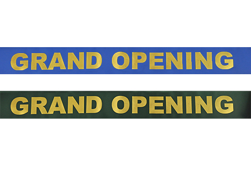 4 Inch Wide Grand Opening Ribbon (Large Gold Capital Letters)