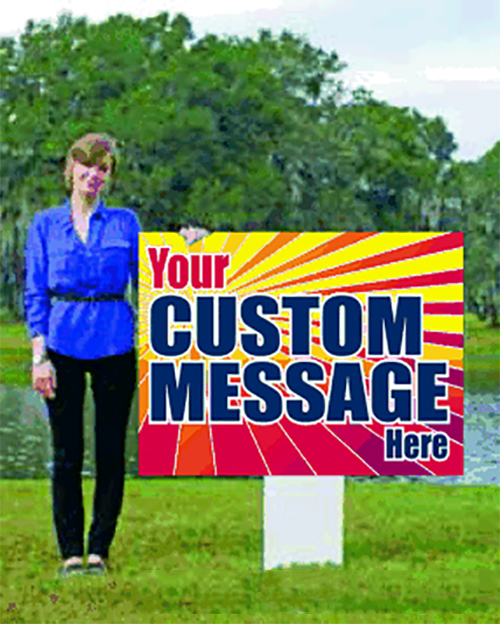 Extra Large Giant Custom Yard Sign