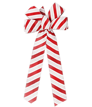 6 Loop Holiday Candy Cane Bows