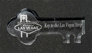 6 Inch Crystal Key Award