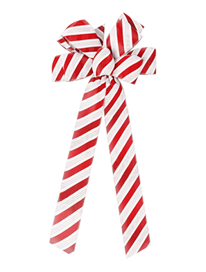 8 Loop Holiday Candy Cane Bow