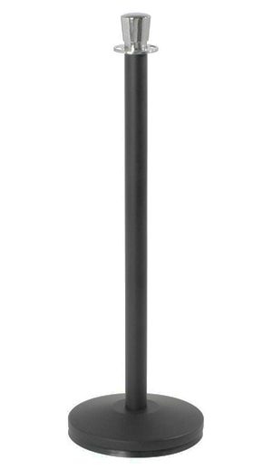 Black and Chrome Metal Stanchion