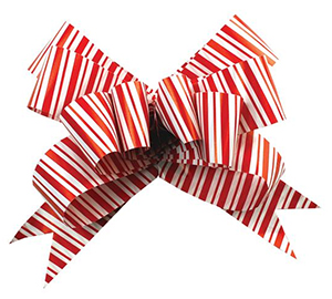 Candy Cane Butterfly Bow
