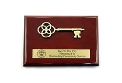 Prestigious Key to the City Plaque