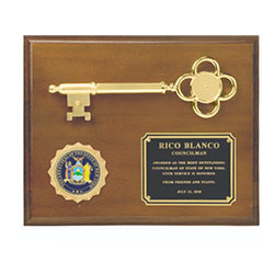 Ceremonial Key to the City with Honorary Medallion Plaque