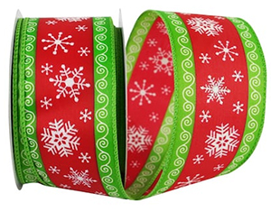 Christmas Magic Wired Edge Ribbon