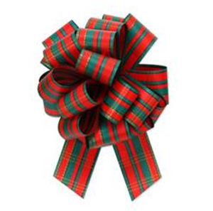 5 1/2 inch Holiday Plaid Pull Bow