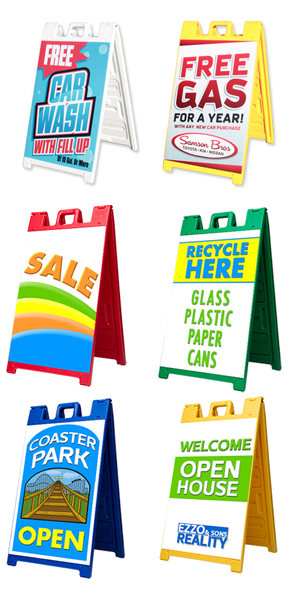 Custom Plastic A-Frame Sidewalk Sign