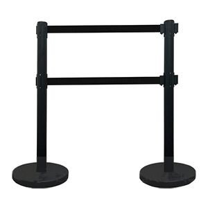 Double Retractable Belt Stanchion